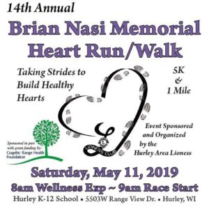 Brian Nasi Memorial Heart Run/ Walk @ Hurley K-12 School