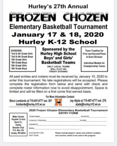Frozen Chozen Elementary Basketball Tournament @ Hurley School District